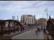 Wrocław, most Lessinga. Obecnie na jego miejscu stoi most Pokoju. Fot. Henry N. Cobb