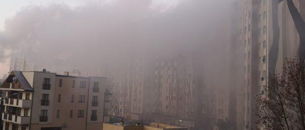 Smog na wrocławskim osiedlu